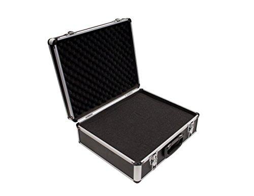 PeakTech 7305 – Universal Koffer für Messgeräte, Robuster Tragekoffer, Werkzeug Aufbewahrung, Würfelschaum Platten, Schaumstoff Polsterung, abschließbar, Staubschutz, L - 405 x 330 x 150 mm