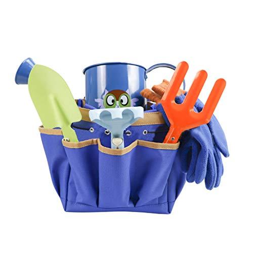 Kinder Gartengeräte Set Schaufel Egge Rechen Gießkanne Einkaufstasche Kinder Spielzeug