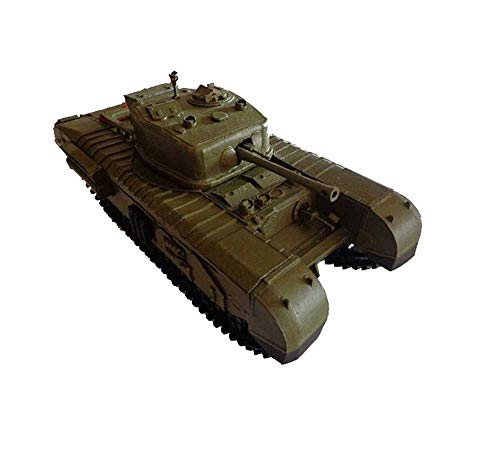 JHSHENGSHI Model Toys 1/25 Scale British Churchill Tank Kid's Toys Kits And Gifts, 11.4Inchx5.1Inch