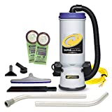 ProTeam Commercial Backpack Vacuum, Super CoachVac Vacuum Backpack with HEPA Media Filtration and...
