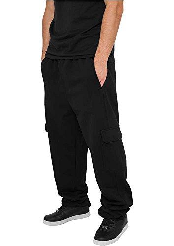 Urban Classics Herren Cargo Sweatpants Hose, Schwarz, W40 (Herstellergröße: 3XL)
