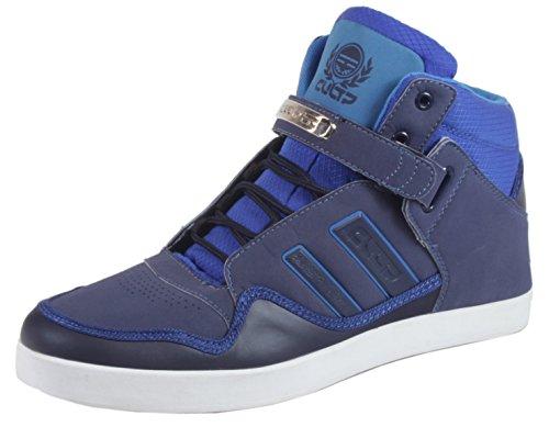 CULTZ Robinson - Herren Sneaker High Top Lederoptik Basketball Street Schuhe Schnürschuhe 40 41 42 43 44 45