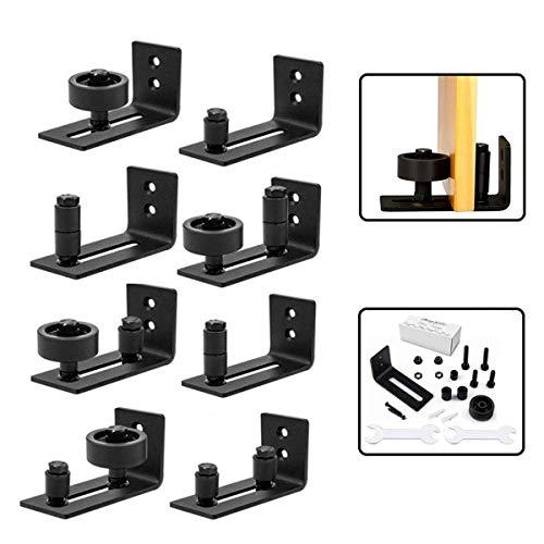 Schiebetürsystem Laufschiene, 8-in-1 Verstellbarer Multistyle Schiebetür Laufschiene für Scheunentor, Glastür, Holztür, Schranktür (Kombinationsprodukte, Nicht 8 Stück)