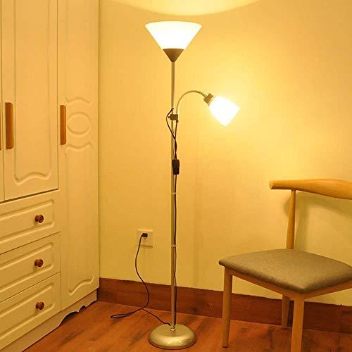 FACAIA Lámpara de pie de Cuello de Cisne Ajustable para niños con luz de Piso Doble, lámpara de pie con luz de Lectura, Interruptor de atenuación Doble, Sala de Estar, Estudio, Dormitorio, E27