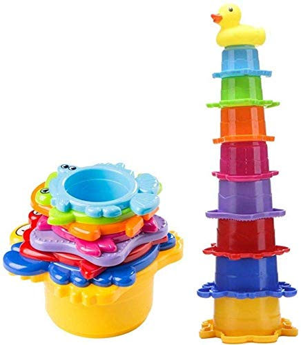 Stacking Cup Bath Toys for Baby, Toddlers, and Kids, Stack-Up Cups in...