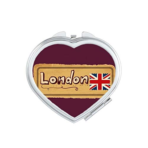 Union Jack UK Londen Stempel Britian hart Compact Make-up Spiegel Draagbare Leuke Hand Pocket Spiegels Gift