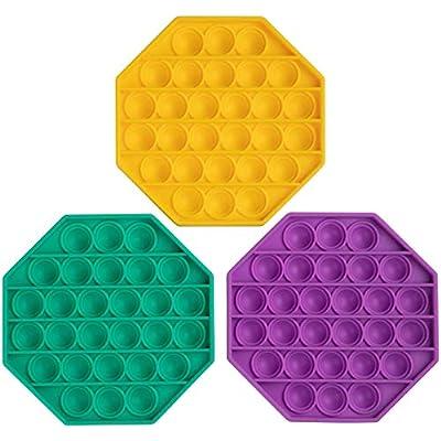 Amazon - Save 40%: Push Pop Bubble Fidget Sensory Toy 3 PCS,Silicone Stress Relie…