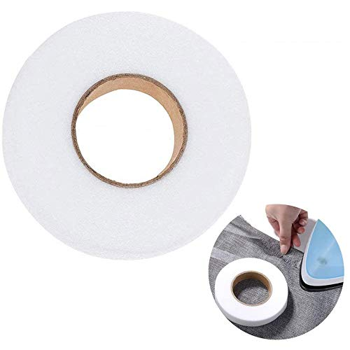 Fabric Fusing Tape Iron on Tape Adhesive Hem Tape Iron-on Hemming Tape for Pants Clothes Jeans(70 Yards,1 Inch)