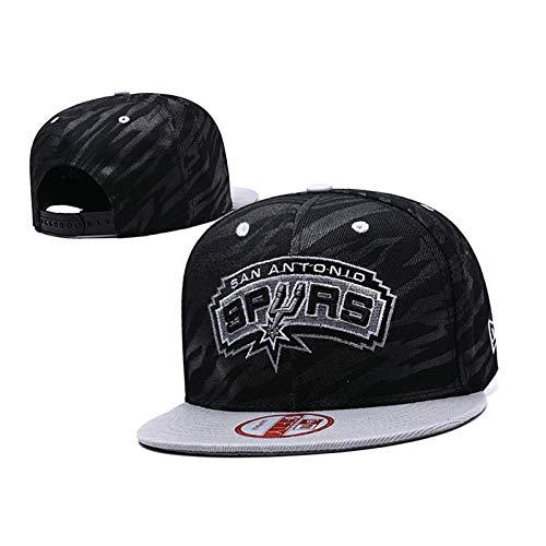 JQER 2021 Nueva Gorra De Baloncesto - San Antonio Spurs Bordado Ajustable Hombres Y Deportes De Mujer Sombrero Plano De Alumno Sombrero Deportivo Al Aire Libre R Black A
