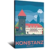 ASFGH Konstanz Deutschland Vintage Reise Poster Dekor