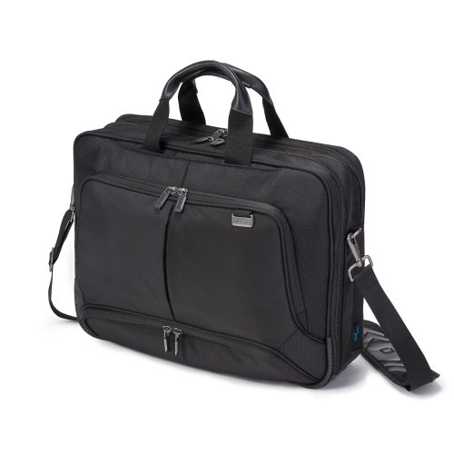 Dicota Top Traveller 15–17,3 Zoll PRO Umhängetasche für Laptop, Computer und Tablet, Leichtgewichtige Laptoptasche mit Öffnung an der Oberseite, Schwarz