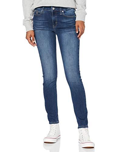 Calvin Klein Jeans Ckj 011 Mid Rise Skinny Hose Damen, Blau(Zz001 Mid Blue), 32/30