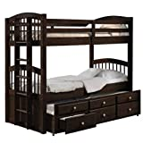 MKING Acme Micah Bunk Bed & Trundle (Twin/Twin) in Espresso