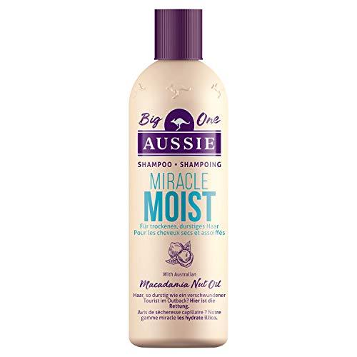 Aussie Miracle Moist Shampoo für Durstiges Haar, 500ml