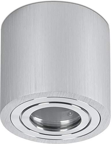 Spot aluminium opbouwspot 230 V IP44 GU10 rond - Ø90x85 mm - zilver