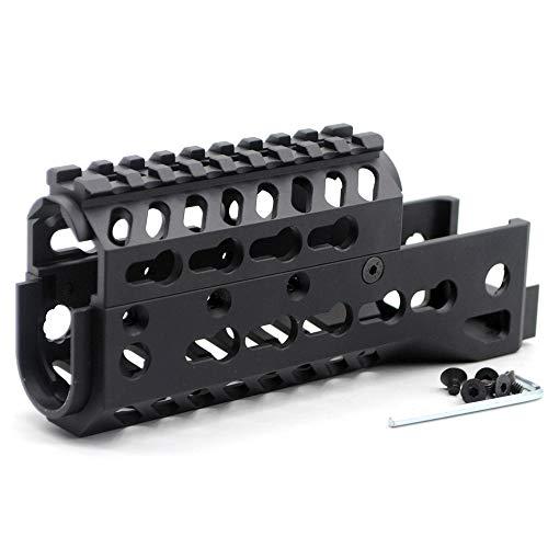 TRIROCK 6.5 Inch Black Two-Pieces Design Drop-in Style Universal AK Keymod Handguard Fits Both RU & US AK47