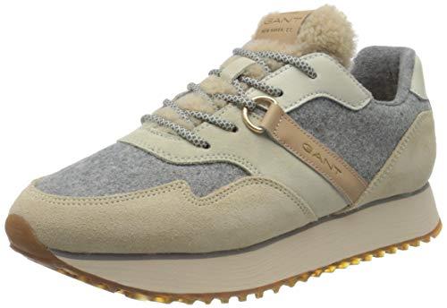 GANT FOOTWEAR Damen BEVINDA Sneaker, Beige/Gray, Beige/Gray, 38
