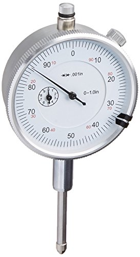 Triton 1' Dial Indicator 0.001' Graduation Travel Lug Back White Face