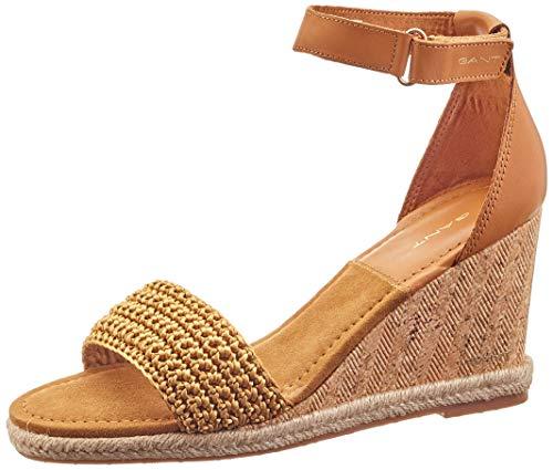 GANT Footwear Damen PELICANBAY Riemchensandalen, Beige (Fudge Caramel G224), 38 EU