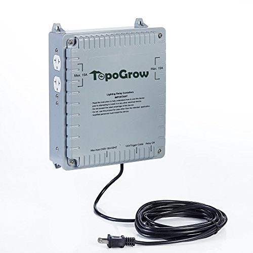 TopoGrow 4 Lighting Relay Ballast Maximum 4 1000W Grow Light Controller for Hydroponics Indoor Double Ended Grow Light and Grow Tent Growing