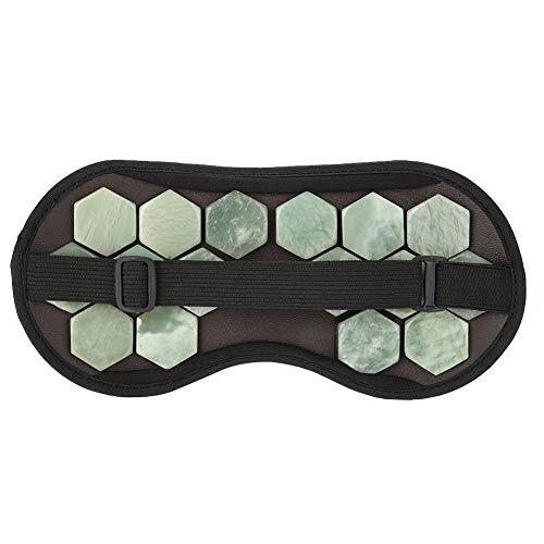 SH-RuiDu Augenschatten-Abdeckung, natürlicher Jade-Germanium-Stein, Schlaf-Augenschatten-Abdeckung, Entspannungs-Geschenk für Frauen und Männer, für Reisen und Nickerchen