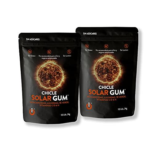 WUGum Chicles Funcionales: Solar para Potenciar el Bronceado. Pack 2 unidades.