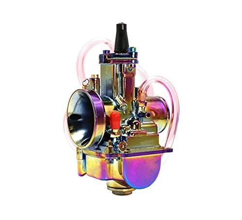 Carburatore 1 Set Universale 21 24 26 28 30 32 34 2T 4T per P&WK Carburatore Moto Carburatore con Adattatore Filtro Aria per 75-250cc (Color : 32mm)