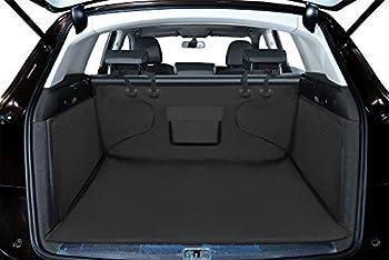 Alfheim Housse protection de coffre de voiture - couverture de dossier de siège de chien - tapis/ voyage durables/ résistants à l'eau/ antidérapants - universels pour camion/ voiture/ SUV (Noir)