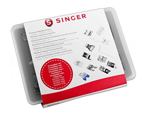 Singer Premium-Nähfußsortiment - Inklusive 11 Nähfüße + Schaft + Kantenlineal