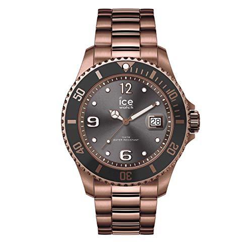 Ice-Watch - ICE steel Bronze - Braune Herrenuhr mit Metallarmband - 016767 (Large)