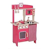 VEDES Großhandel GmbH - Ware- Bee - Cocina de Madera con Accesorios, Color Rojo (0047024587)