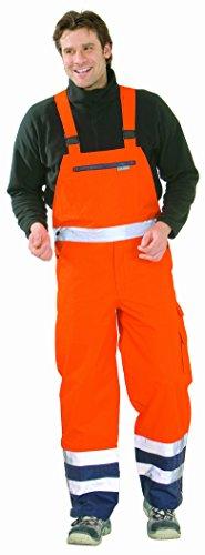 Planam 2066 Regen-Latzhose Warnschutz orange/Marine (XL (56/58), orange/Marine)