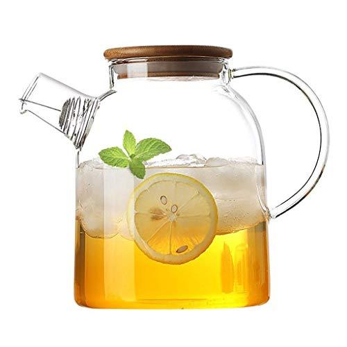 H-BEI Jarra de Agua fría Jarra de Vidrio Resistente al Calor Jarra Multiusos Filtro de la casa Jarra de té Jarra de Jugo para el hogar, 1800 ml