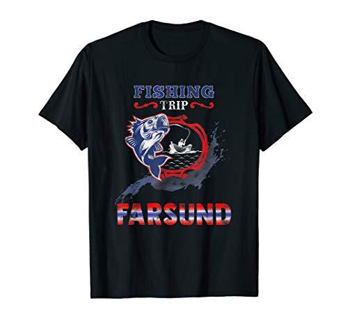FARSUND Fishing Trip Norwegen mit Fisch und Boot T-Shirt