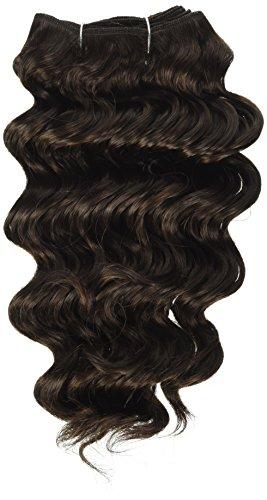 chear Français vague trame Extension de cheveux humains avec de mélange tissage, numéro 2, marron foncé, 30,5 cm