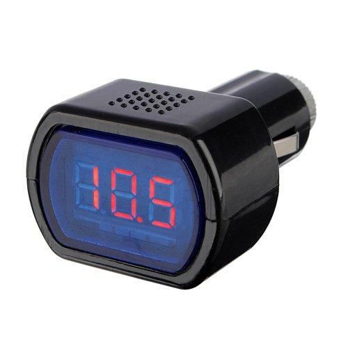 Mini voiture LCD Tension de la batterie Indicateur Moniteur 12V Noir