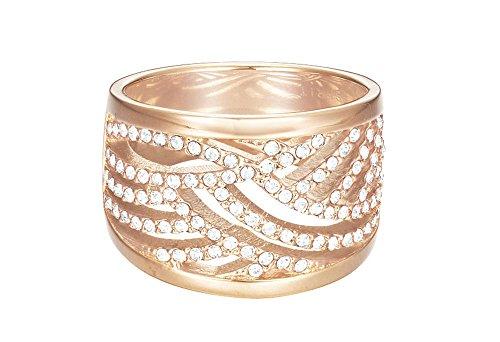 ESPRIT Damen-Ring JW50236 Rose rhodiniert Glas weiß Gr. 57 (18.1) - ESRG02688C180