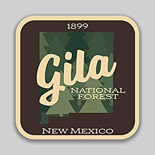 JMM Industries Gila National Forest New Mexico Vinyl Decal Sticker Car Window Bumper 2-Pack 4-Inches 4-Inches Premium Quality UV-Protective Laminate PDS1400