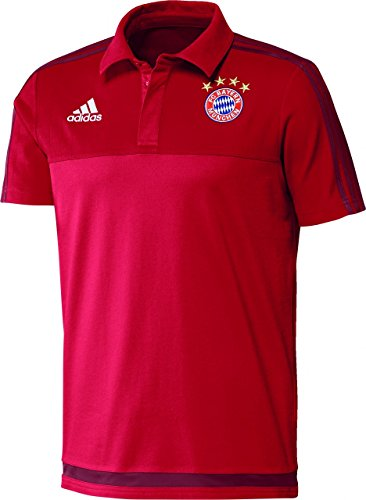 adidas Herren Poloshirt FC Bayern, Fcb True Red/Craft Red F12, XS, S27411