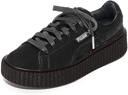 PUMA Womens Fenty by Rihanna Gray Creeper Velvet 36446603 Sneakers Shoes 8