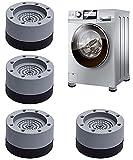 Almohadillas de Goma para Lavadoras | Universal Patas antivibracion lavadora - 4 Piezas Soporte de Goma Antivibración/Amortiguador de vibraciones - Piezas de accesorios para pies lavadora y secadora