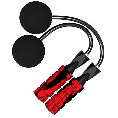 TAOBEGJ Cuerda de Salto Profesional sin Peso, Cuerda de Salto Especial para Quemar Grasa, Salto de PVC Resistente al Desgaste,Red