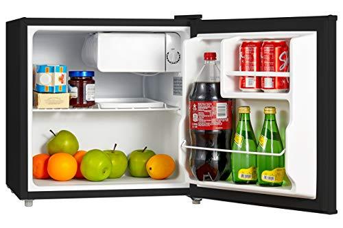 Midea WHS-65LB1 Compact Single Reversible Door Refrigerator, 1.6 Cubic Feet(0.045 Cubic Meter), Black (Renewed)