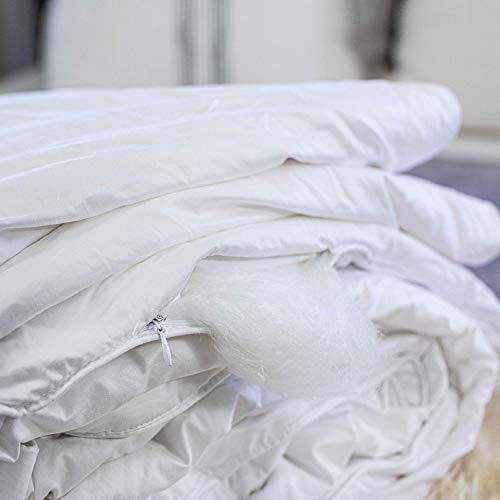 Silk Bedding Direct Mit Seide Gefüllte Bettdecke. Einzelbettgrösse. Frühlings/Herbstgewicht. Handgefertigt, Langfaser Maulbeerseide. 200cm x 140cm. ZERTIFIZIERUNG: Oeko Standard 100.