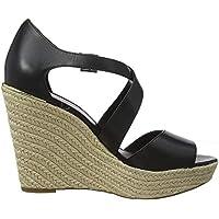 Michael Kors Abbott, Zapatos de Vela. para Mujer, Negro 001, 37 EU