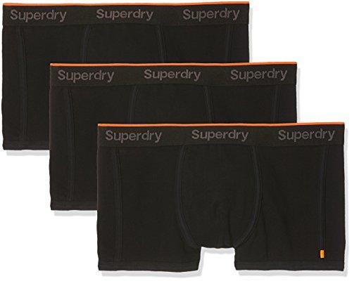 SUPERDRY Herren Retroshorts Orange Label Triple Pack, Schwarz (Black/Black/Blackdnx), M
