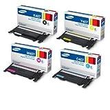 Samsung CLP320 4pk Geniun Color Toner Cartridges(CLT-K407S,CLT-C407S,CLT-Y407S,CLT-M407S)