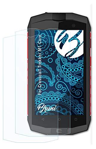 Bruni Schutzfolie kompatibel mit Crosscall Trekker M1 Core Folie, glasklare Bildschirmschutzfolie (2X)
