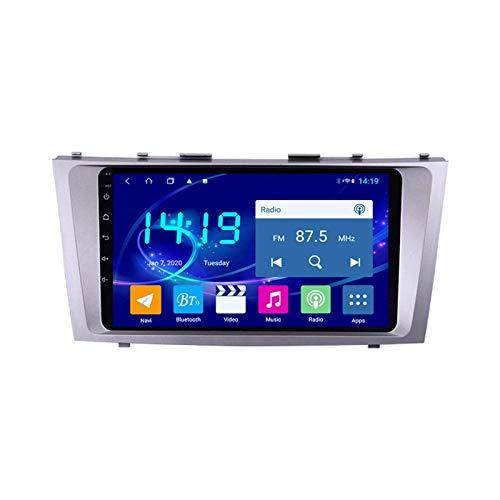 Coche Multimedia Player Navigator Para Toyota Camry 2007-2011 Unidad Cabeza Auto Estéreo Radio Video Receptor Sat Nav 1080P Pantalla Táctil Soporte GPS WIFI Bluetooth Mirrorlink,8 core 4g+wifi: 4+64gb