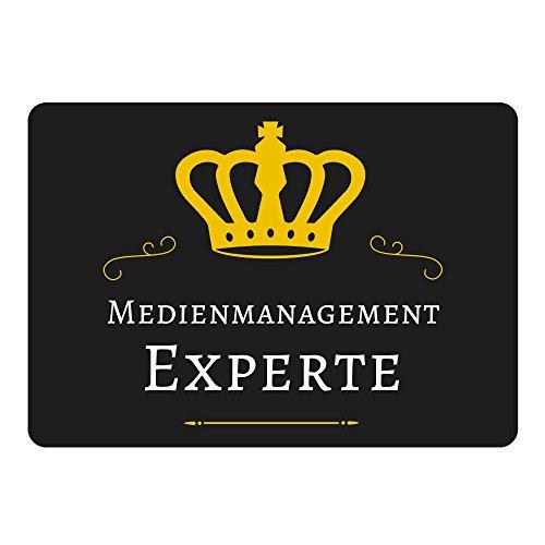 Multifanshop Mousepad Medienmanagement Experte schwarz